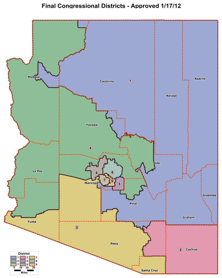Az public square arizona state government final congressional districts approved 1172012 freerunsca Choice Image