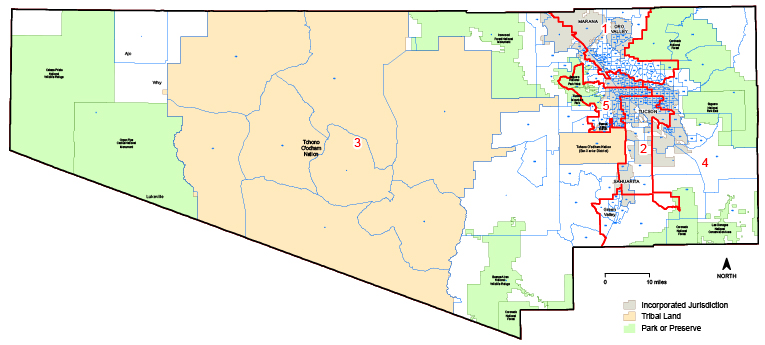 graphic about Printable Map of Tucson Az titled AZ Community Sq. Pima County Voter Precincts